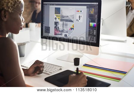 Graphic Designer Creativity Editor Ideas Designer Concept