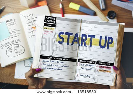 Startup Business Plan New Business Launch Concept