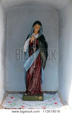 STITAR, CROATIA - AUGUST 27: Our Lady of Sorrows, statue in the chapel in the village Stitar, Croatia on August 27, 2015