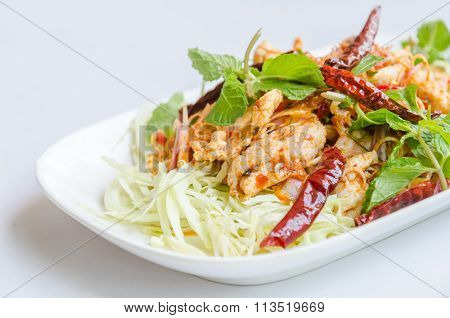 Thai Spicy Salad With Pork