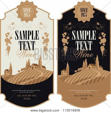 Wine Labels With Vineyards