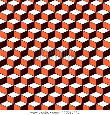 Pattern with 3D optical effect. Seamless geometric texture. Vector art.