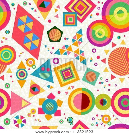 Seamless Pattern Geometry Shape Colorful Abstract