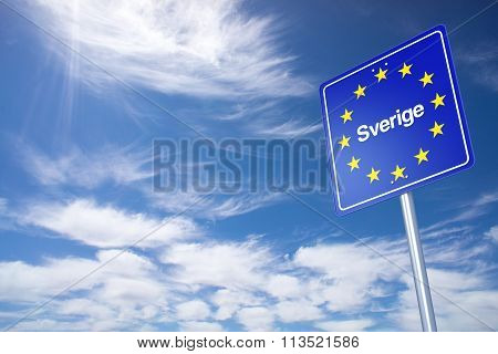 Sweden Border Sign