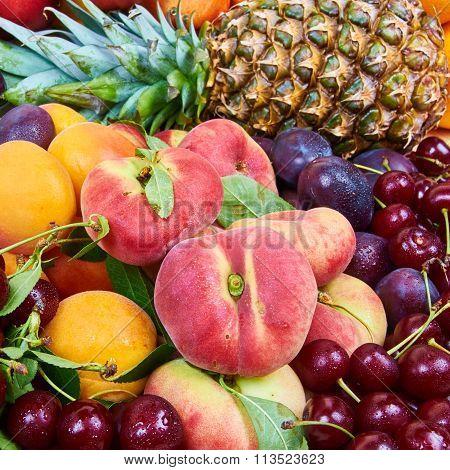Fresh Fruits. Fruit Background
