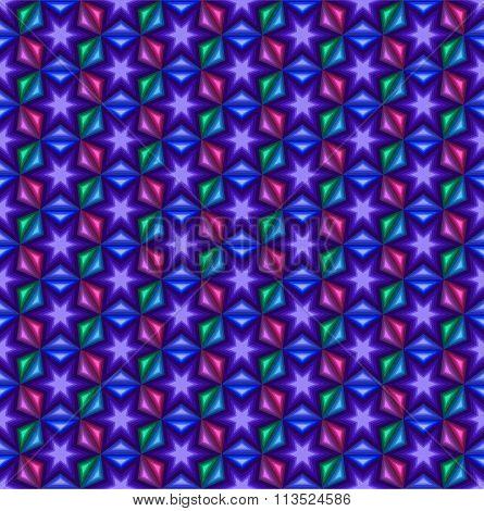 Stars geometric background