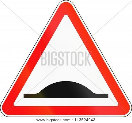 Road Sign Used In Russia - Road Bump