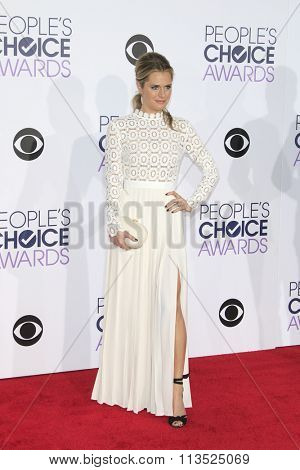LOS ANGELES - JAN 6:  Maggie Lawson at the Peoples Choice Awards 2016 - Arrivals at the Microsoft Theatre L.A. Live on January 6, 2016 in Los Angeles, CA