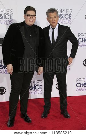 LOS ANGELES - JAN 6:  Jordan Smith, Daivd Foster at the Peoples Choice Awards 2016 - Arrivals at the Microsoft Theatre L.A. Live on January 6, 2016 in Los Angeles, CA