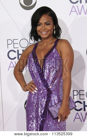 LOS ANGELES - JAN 6:  Christina Milian at the Peoples Choice Awards 2016 - Arrivals at the Microsoft Theatre L.A. Live on January 6, 2016 in Los Angeles, CA