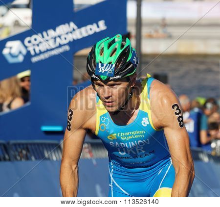 Close-up Of Cycling Triathlete Danylo Sapunov From Ukraine