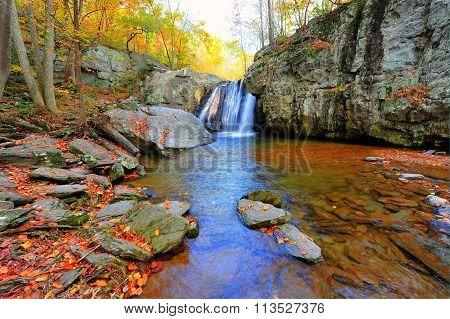 Kilgore Falls In Maryland In Autumn