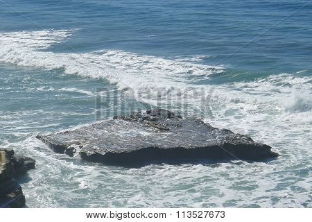 Flat Rock on Pacific Ocean