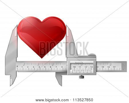 Horizontal Caliper Measures Heart Sign