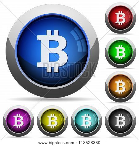 Bitcoin Sign Button Set