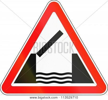 Road Sign Used In Russia - Opening Or Swing Bridge