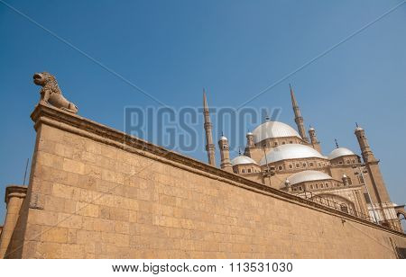 Mohammed Ali Or Alabaster Mosque,  Saladin Citadel, Cairo, Egypt- Unconventional Angle Shot