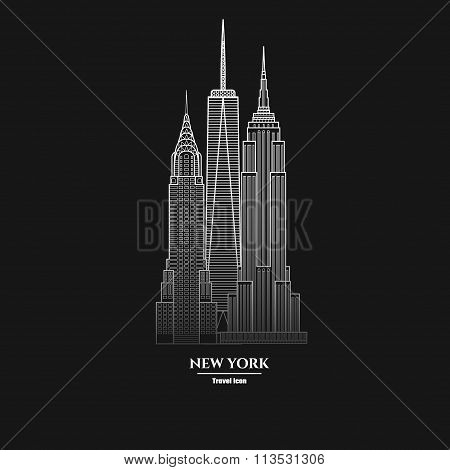 New York Skyscraper Icon  1