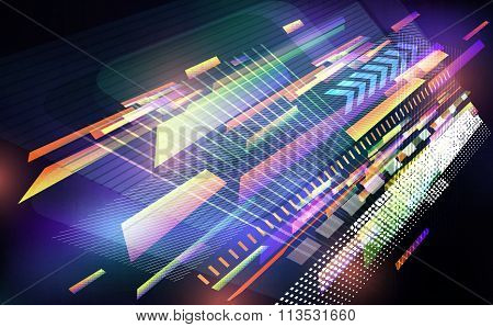 Abstract Techno Background.