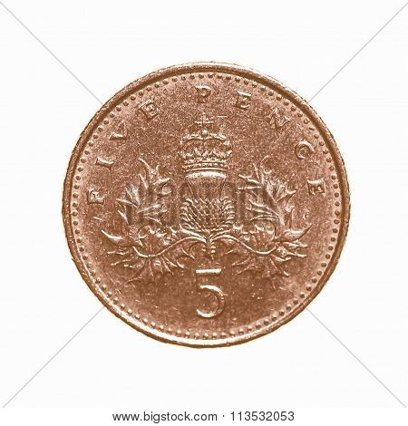 Five Pence Coin Vintage