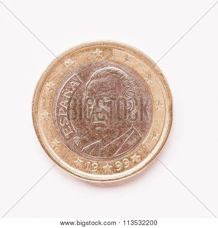 Spanish 1 Euro Coin Vintage