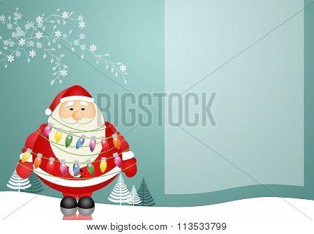 Santa Claus Background In Winter