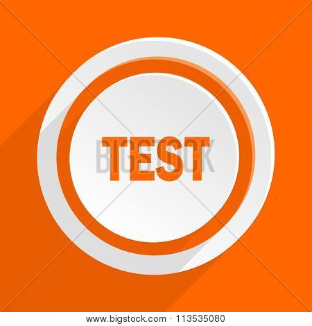 test orange flat design modern icon for web and mobile app
