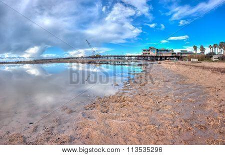Eye in the sky over the pier
