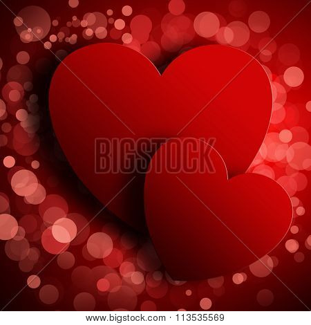 Valentine's day abstract background