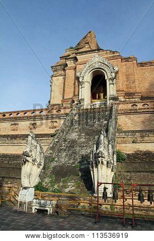 Wat Chedi Luang in Chiang Mai Thailand