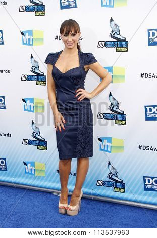 Karina Smirnoff at the 2012 Do Something Awards held at the Barker Hangar in Los Angeles, USA on August 19, 2012.
