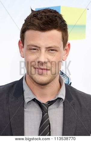 Cory Monteith at the 2012 Do Something Awards held at the Barker Hangar in Los Angeles, USA on August 19, 2012.