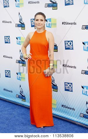 Sophia Bush at the 2012 Do Something Awards held at the Barker Hangar in Los Angeles, USA on August 19, 2012.