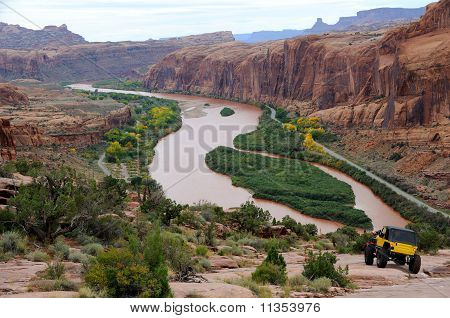 Travels Down Rugged Moab Rim Trail