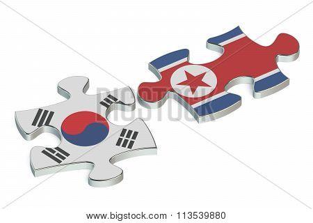 North Korea And South Korea Conflict Concept
