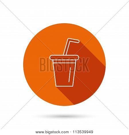 Soft drink icon. Soda sign.