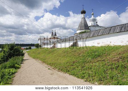 Wall Of Orthodox Ferapontov Monastery