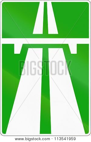 Road Sign Used In Russia - Motorway