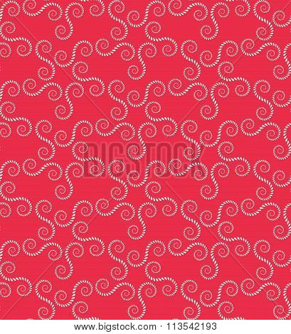 Seamless lace pattern. Vintage, curled texture. Spiral, swirl floral figures. Twist ornament of laur