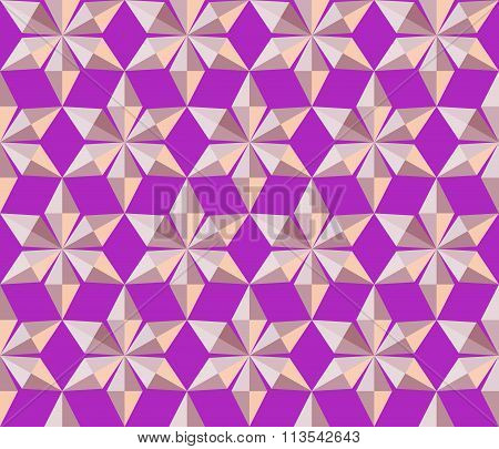 Seamless christmas pattern. Crystal  shining snowflakes. Light stars on lilac magenta background. Wi