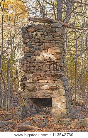 Old Chimney In The Forest