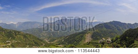 Country Side Landscape Near Alishan
