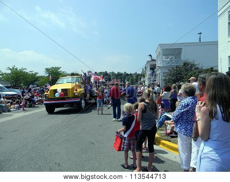 Yellow Truck in 4th of July Parade