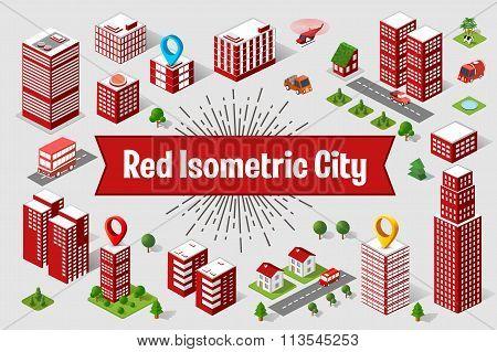 Red City  Skyscraper