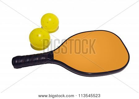 Pickleball Paddle with Two Pickleballs