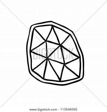Wire-Frame Of Magic Crystal