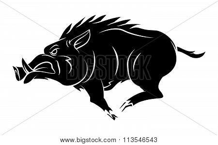 Wild Boar Tattoo Mascot vector design .eps 10 illustration design