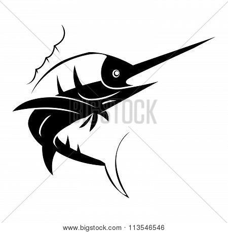 Marlin Fish Tattoo vector design .eps 10 illustration design