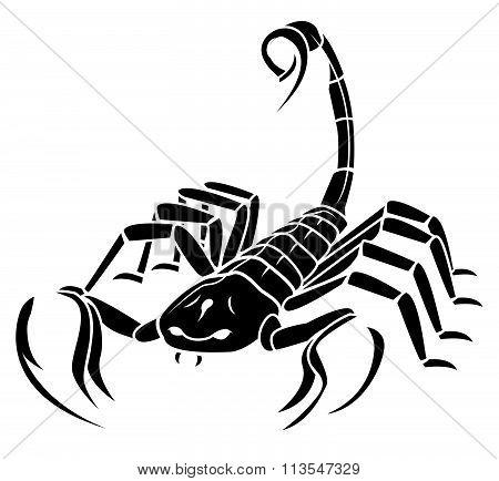 Scorpion MAscot Tattoo .eps10 editable vector illustration design