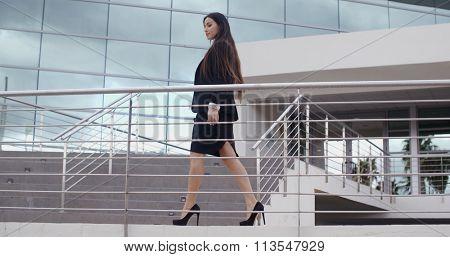 Stylish confident business manageress